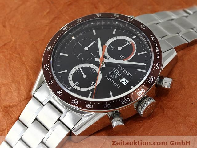 Used luxury watch Tag Heuer Carrera steel automatic Kal. 16 Ref. CV2013-2  | 140827 01