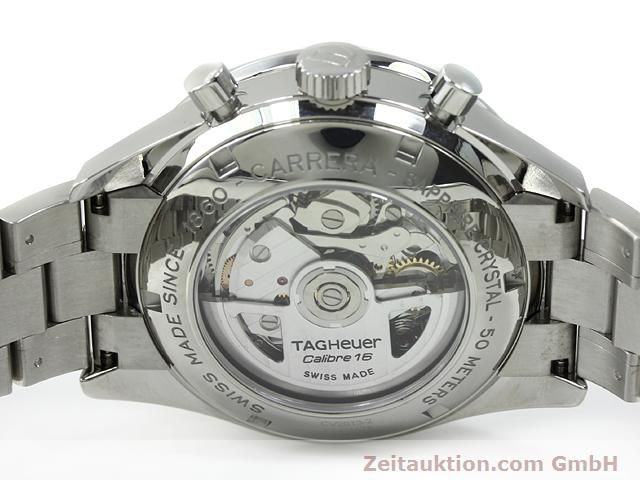 Used luxury watch Tag Heuer Carrera steel automatic Kal. 16 Ref. CV2013-2  | 140827 09