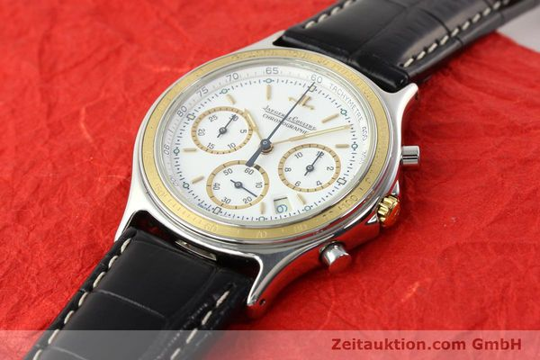 montre de luxe d occasion Jaeger Le Coultre Heraion chronographe acier / or  quartz Kal. 630 Ref. 115.5.31  | 140846 01