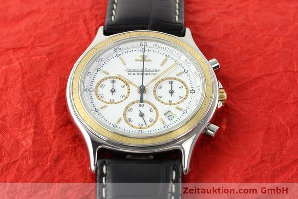montre de luxe d occasion Jaeger Le Coultre Heraion chronographe acier / or  quartz Kal. 630 Ref. 115.5.31  | 140846 12