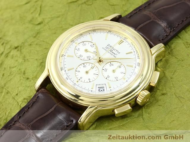 Used luxury watch Zenith Elprimero 18 ct gold automatic Kal. 400 Ref. 14/30  | 140851 01