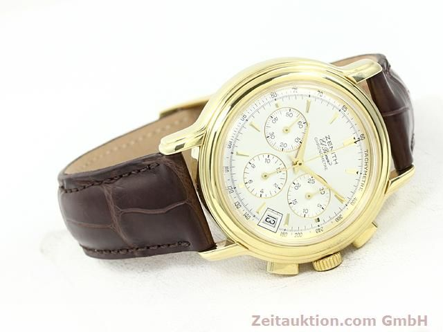 Used luxury watch Zenith Elprimero 18 ct gold automatic Kal. 400 Ref. 14/30  | 140851 03