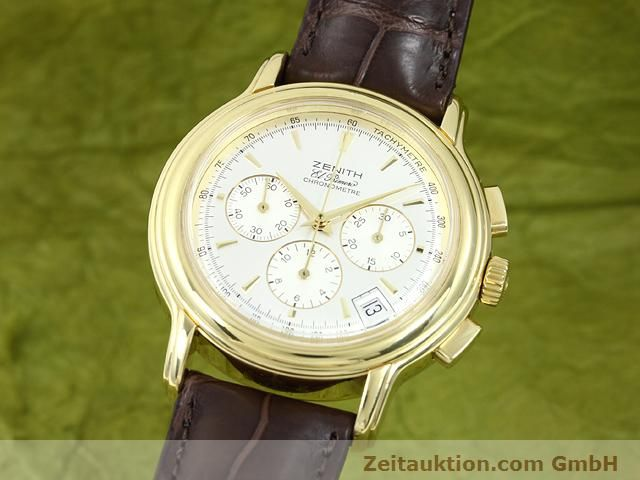 Used luxury watch Zenith Elprimero 18 ct gold automatic Kal. 400 Ref. 14/30  | 140851 04