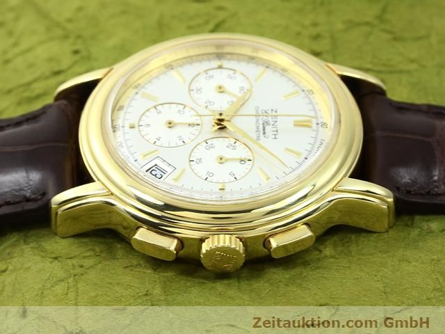 Used luxury watch Zenith Elprimero 18 ct gold automatic Kal. 400 Ref. 14/30  | 140851 05