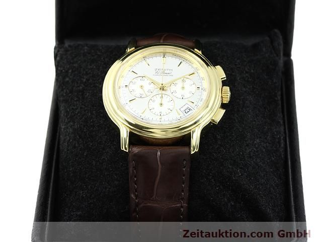 Used luxury watch Zenith Elprimero 18 ct gold automatic Kal. 400 Ref. 14/30  | 140851 07