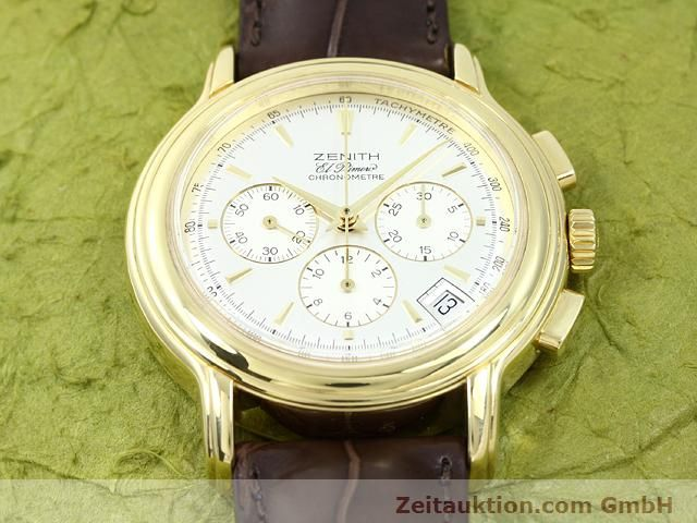 Used luxury watch Zenith Elprimero 18 ct gold automatic Kal. 400 Ref. 14/30  | 140851 13