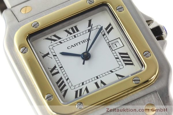 Used luxury watch Cartier Santos steel / gold automatic  | 140852 02