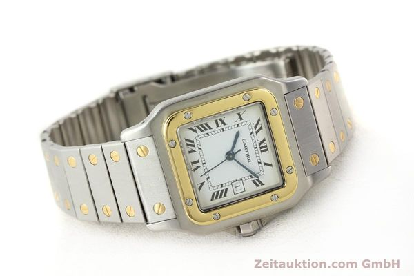 Used luxury watch Cartier Santos steel / gold automatic  | 140852 03
