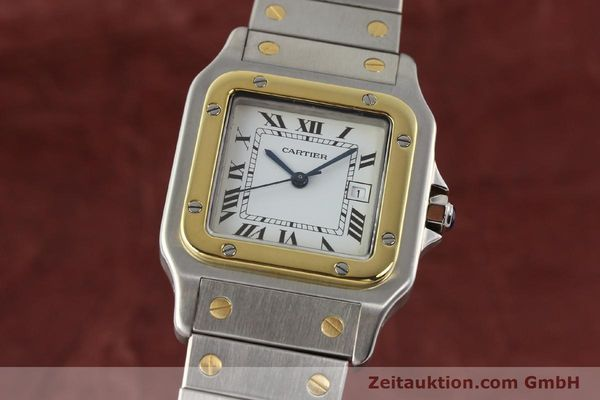 Used luxury watch Cartier Santos steel / gold automatic  | 140852 04