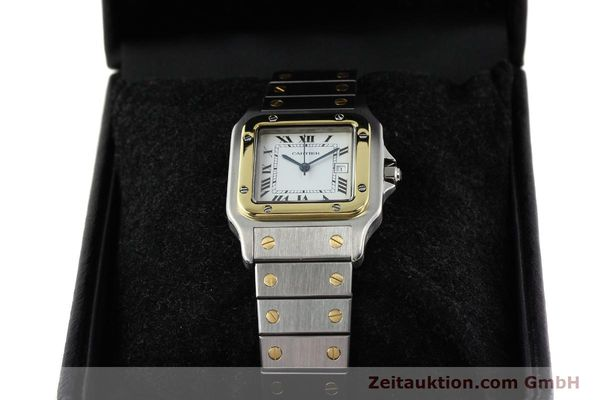 Used luxury watch Cartier Santos steel / gold automatic  | 140852 07