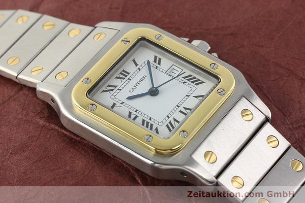 Used luxury watch Cartier Santos steel / gold automatic  | 140852 14