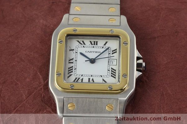 Used luxury watch Cartier Santos steel / gold automatic  | 140852 15