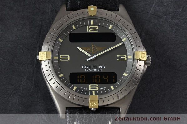 Used luxury watch Breitling Aerospace titanium / gold quartz Kal. ETA 988332 Ref. F56059  | 140860 14