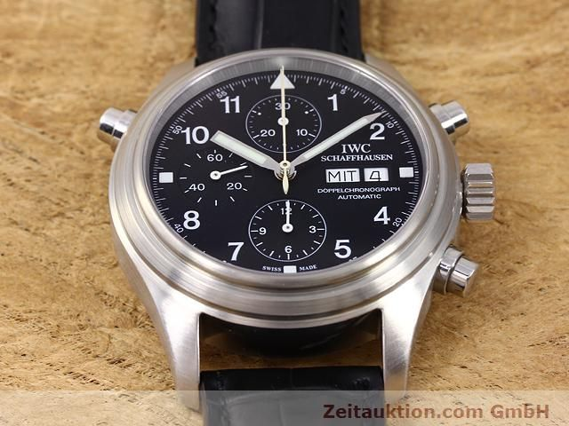 Used luxury watch IWC Doppelchronograph steel automatic Kal. C.79230 Ref. 3713  | 140872 15