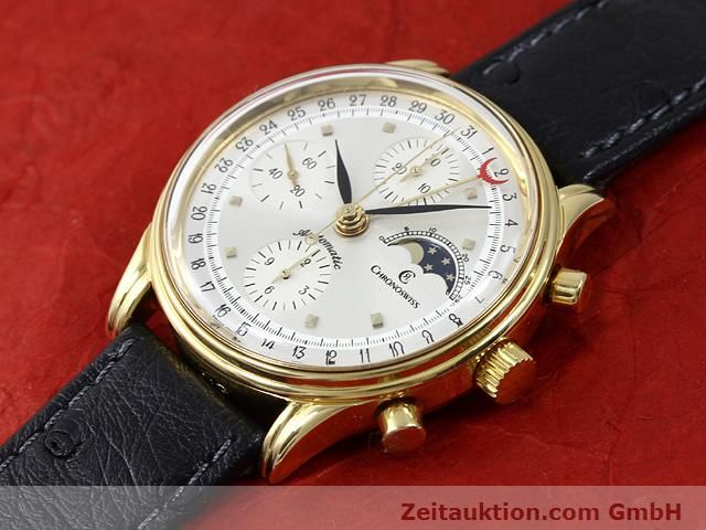 Used luxury watch Chronoswiss Lunar gold-plated automatic Kal. ETA 7750  | 140880 01