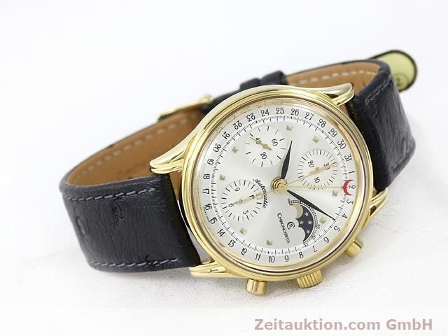 Used luxury watch Chronoswiss Lunar gold-plated automatic Kal. ETA 7750  | 140880 03