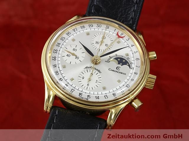 Used luxury watch Chronoswiss Lunar gold-plated automatic Kal. ETA 7750  | 140880 04