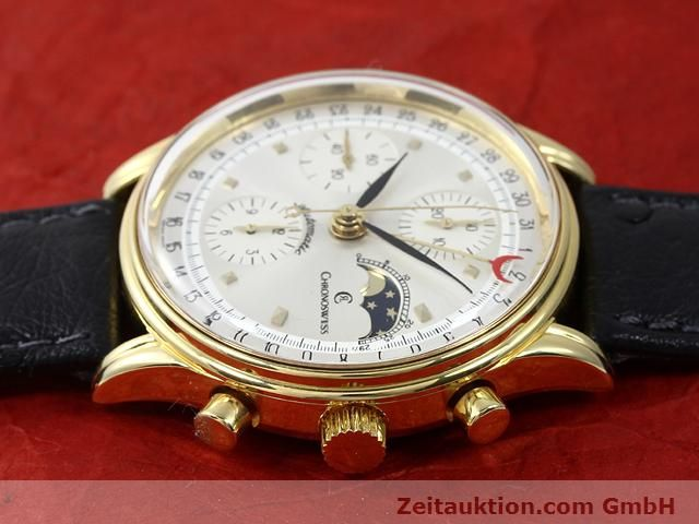 Used luxury watch Chronoswiss Lunar gold-plated automatic Kal. ETA 7750  | 140880 05