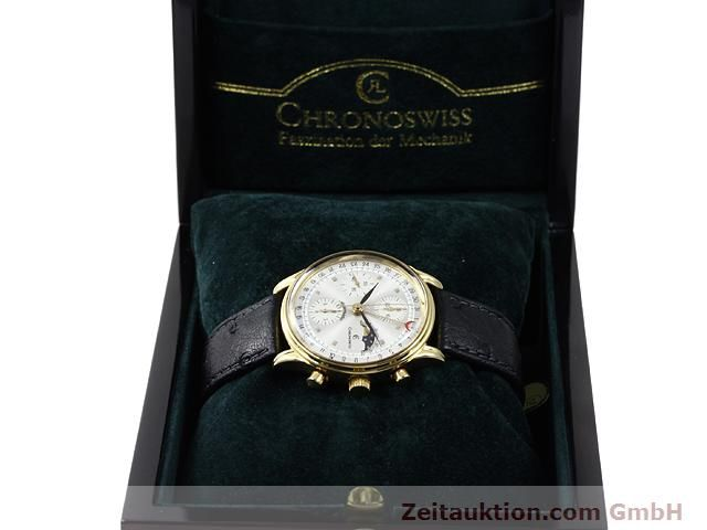Used luxury watch Chronoswiss Lunar gold-plated automatic Kal. ETA 7750  | 140880 07