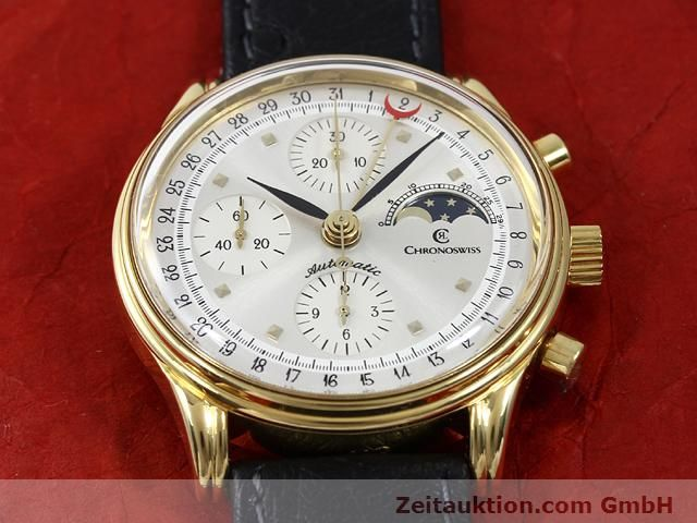 Used luxury watch Chronoswiss Lunar gold-plated automatic Kal. ETA 7750  | 140880 15