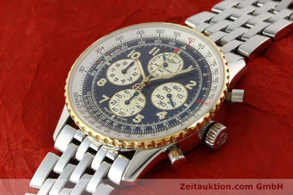 Used luxury watch Breitling Navitimer chronograph steel / gold automatic Kal. ETA 2892-2 Ref. D33030  | 140910 01