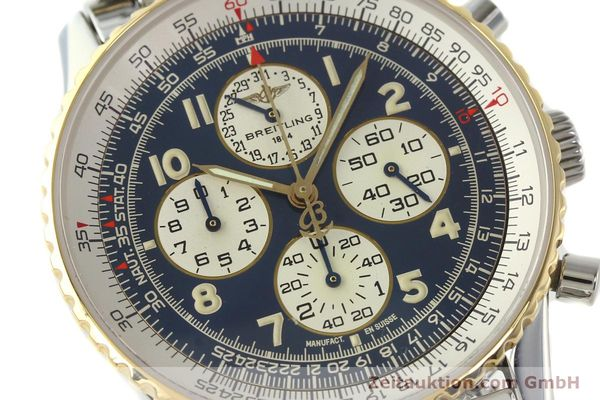 Used luxury watch Breitling Navitimer chronograph steel / gold automatic Kal. ETA 2892-2 Ref. D33030  | 140910 02