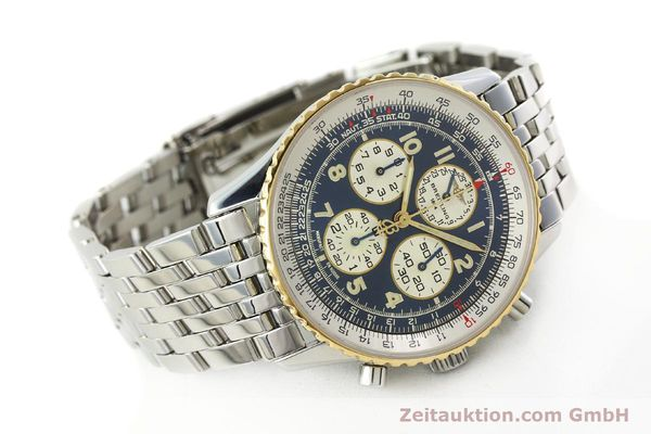 Used luxury watch Breitling Navitimer chronograph steel / gold automatic Kal. ETA 2892-2 Ref. D33030  | 140910 03