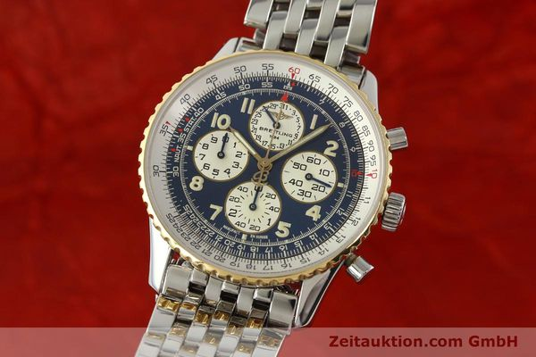 Used luxury watch Breitling Navitimer chronograph steel / gold automatic Kal. ETA 2892-2 Ref. D33030  | 140910 04