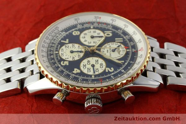 Used luxury watch Breitling Navitimer chronograph steel / gold automatic Kal. ETA 2892-2 Ref. D33030  | 140910 05