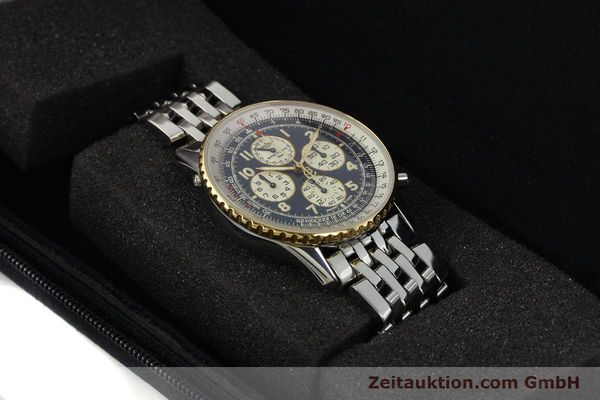 Used luxury watch Breitling Navitimer chronograph steel / gold automatic Kal. ETA 2892-2 Ref. D33030  | 140910 07