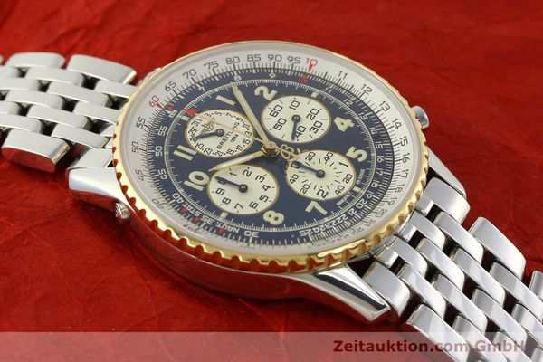 Used luxury watch Breitling Navitimer chronograph steel / gold automatic Kal. ETA 2892-2 Ref. D33030  | 140910 13