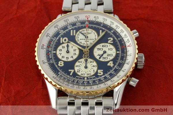Used luxury watch Breitling Navitimer chronograph steel / gold automatic Kal. ETA 2892-2 Ref. D33030  | 140910 14