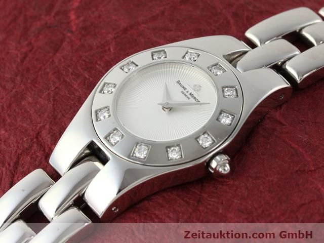 Used luxury watch Baume & Mercier Linea steel quartz Kal. 5057 Ref. 3353557  | 140914 01
