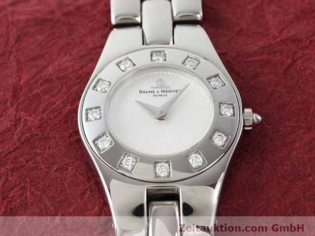 Used luxury watch Baume & Mercier Linea steel quartz Kal. 5057 Ref. 3353557  | 140914 02