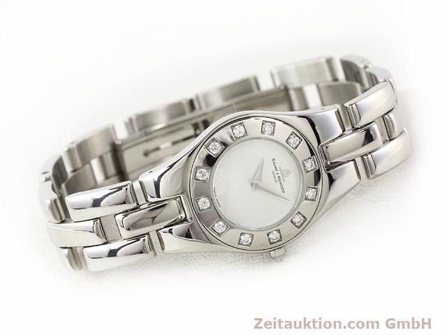 Used luxury watch Baume & Mercier Linea steel quartz Kal. 5057 Ref. 3353557  | 140914 03