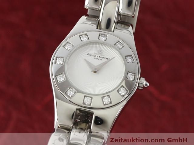 Used luxury watch Baume & Mercier Linea steel quartz Kal. 5057 Ref. 3353557  | 140914 04