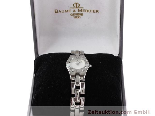 Used luxury watch Baume & Mercier Linea steel quartz Kal. 5057 Ref. 3353557  | 140914 07