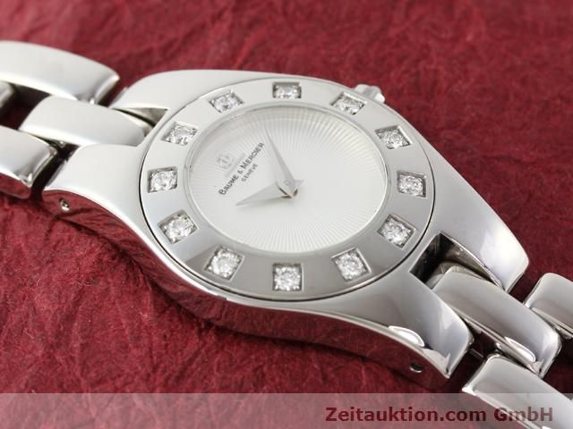 Used luxury watch Baume & Mercier Linea steel quartz Kal. 5057 Ref. 3353557  | 140914 13