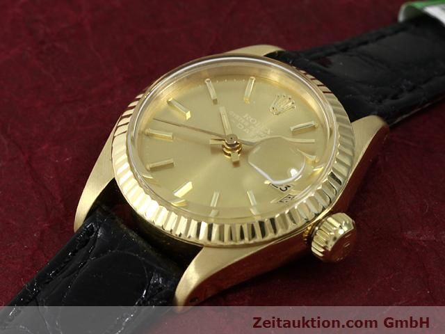 Used luxury watch Rolex Lady Date 18 ct gold automatic Kal. 2030 Ref. 6917  | 140921 01