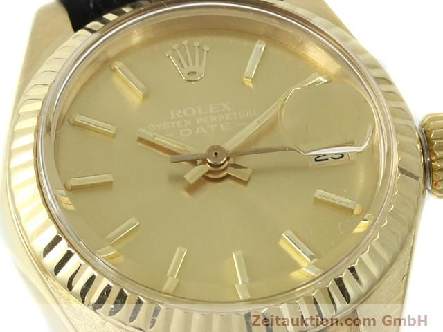 Used luxury watch Rolex Lady Date 18 ct gold automatic Kal. 2030 Ref. 6917  | 140921 02
