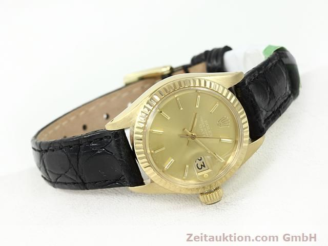 Used luxury watch Rolex Lady Date 18 ct gold automatic Kal. 2030 Ref. 6917  | 140921 03