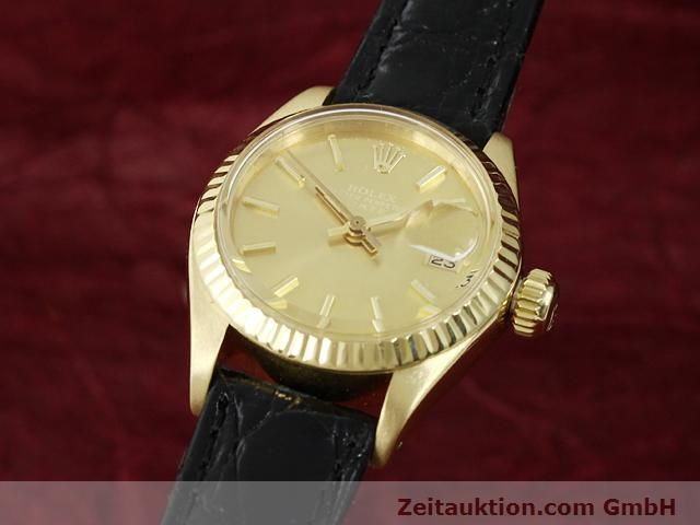 Used luxury watch Rolex Lady Date 18 ct gold automatic Kal. 2030 Ref. 6917  | 140921 04