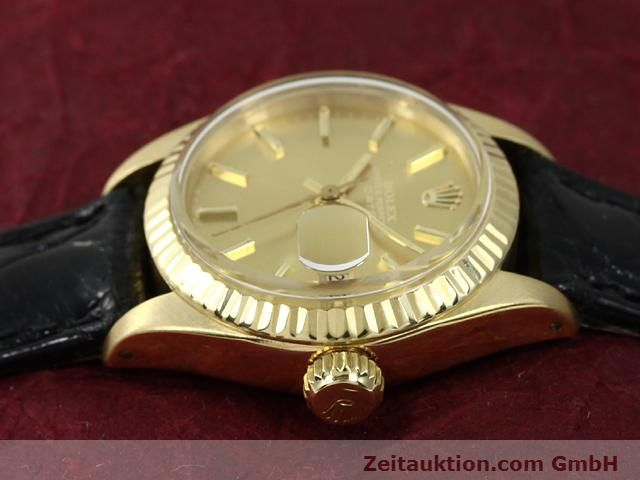 Used luxury watch Rolex Lady Date 18 ct gold automatic Kal. 2030 Ref. 6917  | 140921 05
