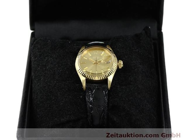 Used luxury watch Rolex Lady Date 18 ct gold automatic Kal. 2030 Ref. 6917  | 140921 07