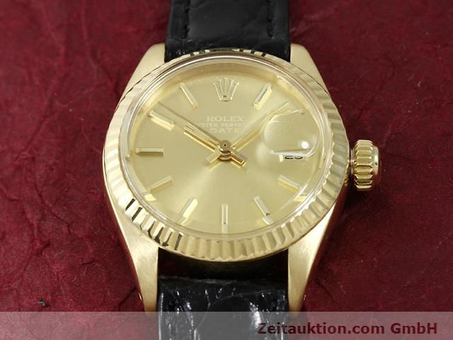 Used luxury watch Rolex Lady Date 18 ct gold automatic Kal. 2030 Ref. 6917  | 140921 14
