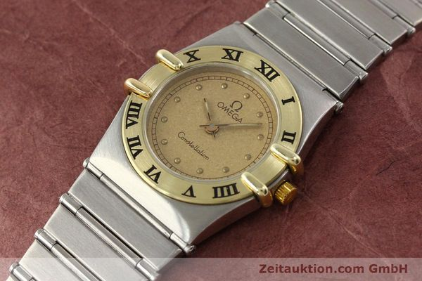 Used luxury watch Omega Constellation steel / gold quartz Kal. 1455 ETA 976001  | 140922 01