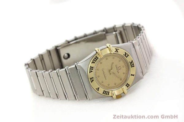Used luxury watch Omega Constellation steel / gold quartz Kal. 1455 ETA 976001  | 140922 03