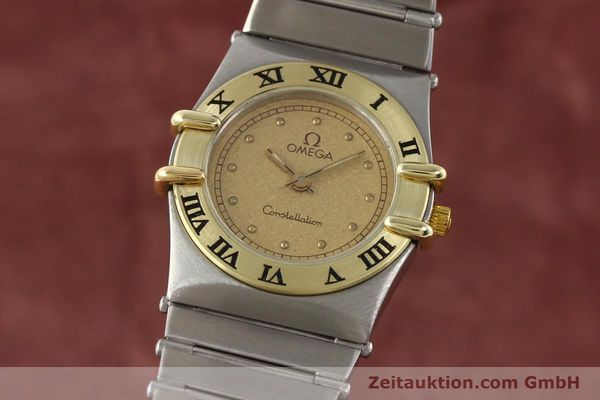 Used luxury watch Omega Constellation steel / gold quartz Kal. 1455 ETA 976001  | 140922 04