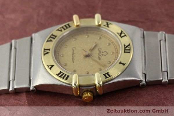 Used luxury watch Omega Constellation steel / gold quartz Kal. 1455 ETA 976001  | 140922 05