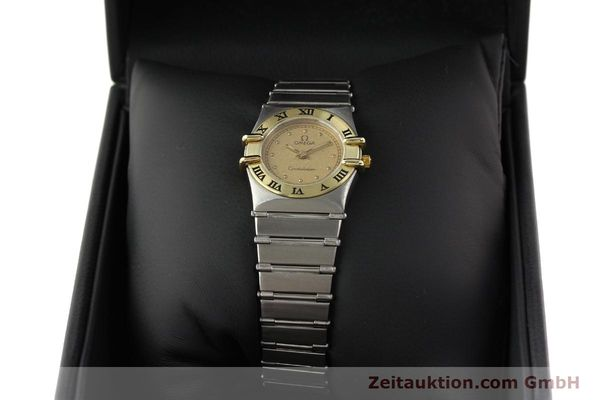 Used luxury watch Omega Constellation steel / gold quartz Kal. 1455 ETA 976001  | 140922 07